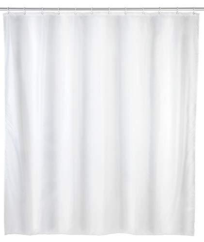 Allstar Duschvorhang Zen Weiß - wasserabweisend, leicht zu pflegen, Polyethylen-Vinylacetat, 120 x 200 cm, Weiß