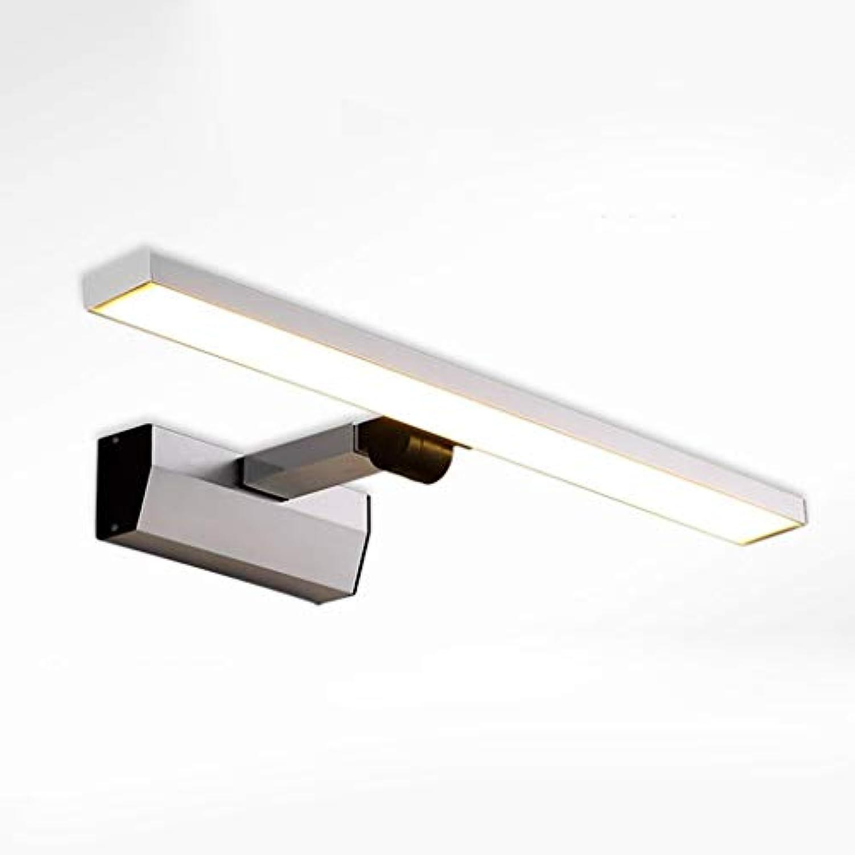 Spiegel Lampen LED-Spiegel vorne Leichte, moderne Aluminium einstellbare Badezimmer Badezimmer Stretch Spiegelschrank Make-up-Leuchten Lampen Badezimmer Lampen (Farbe  warmes Licht-10W 46 cm