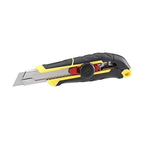 STANLEY FMHT10328-0 FATMAX Cúter Con rueda de bloqueo-9 mm, 18 mm, 25 mm