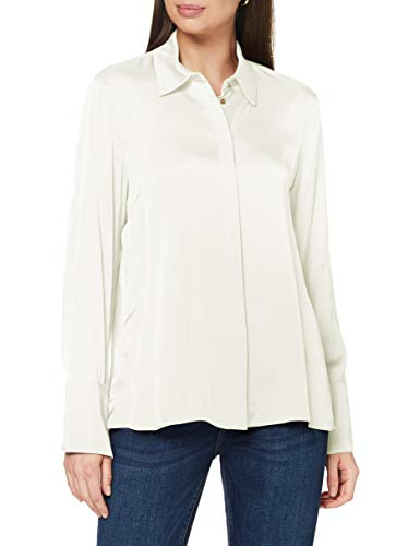 ESPRIT Collection 080EO1F304 Bluse Damen, Weiß (110/OFF WHITE), 32