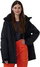 CNTRITON Women's Waterproof Ski Snowboard Jacket Insulated Snow Warm Winter Coats Windproof Parka for Skiing(Black, Medium)