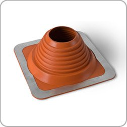 Roof Flashing, high Temperature, 76mm to 152mm (3' to 6') Diameter red ducting Pipe