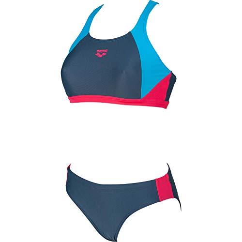 ARENA Damen Sport Bikini Ren, Shark-Turquoise-Freak Rose, 38