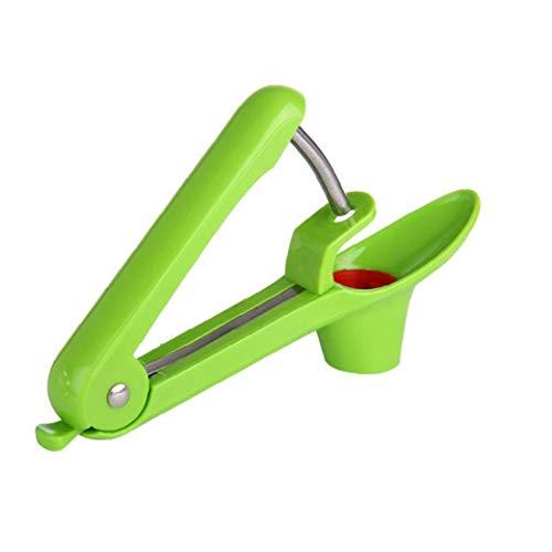 nJiaMe Edelstahl Kirschentkerner Kirschkern entfernen Maschine Kirsche und Olive Pitter Seed-Entferner mit Edelstahl Rod und Food Grade Soft-Halter (zufällige Farbe)
