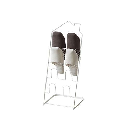 BRFDC Zapatero Estante de Zapato de Hierro Forjado Plegable de múltiples Capas Personalidad Creativa Dormitorio Zapatilla de estantes Simple Home Económico Rack de Zapatos