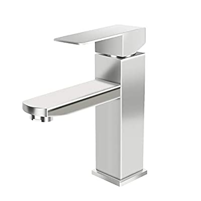 Bathroom Sink Faucets, Single Hole Bathroom Faucet Brushed Nickel