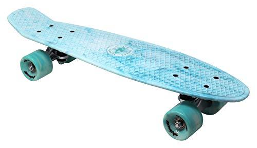 """Lenexa Mini Cruiser 22"""" Complete Skateboard for Kids and Beginners (Blue)"""