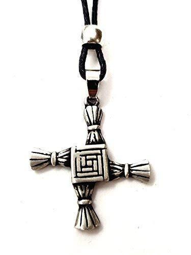 Eclectic Shop Uk Saint Brigids Cross Pendant Bridget Necklace Jewellery Pagan Celtic Imbolc