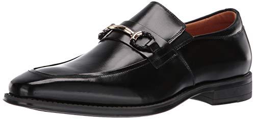 STACY ADAMS Men's Pierce Moe-Toe Slip-on Penny Loafer, Black, 8 M US