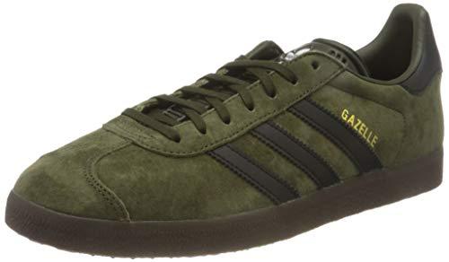 adidas Gazelle, Scarpe da Ginnastica Uomo, Night Cargo/Core Black/gum5, 43 1/3 EU