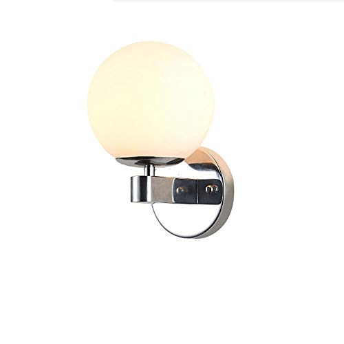 Lighfd Creative Modern beugel Light Glass Lantern Round Muur Light Nordic Outdoor Waterdichte Rustproof Wandlamp Woondecoratie Headboard Bedroom Porch