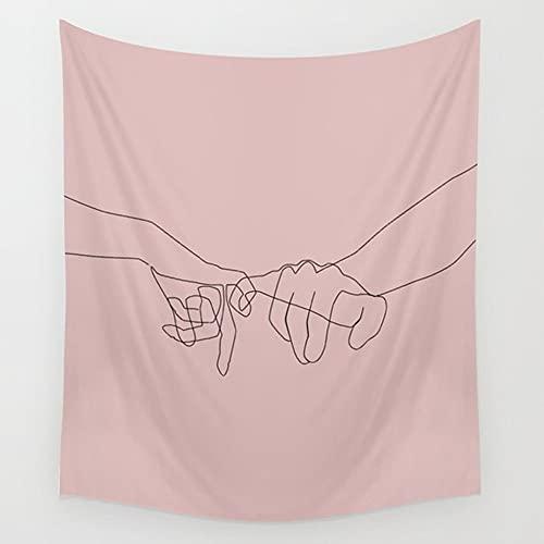 Líneas simples niña flor tapiz de pared tarot tapiz tela de pared picnic yoga manta decoración de la habitación tela de fondo A8 150x200cm