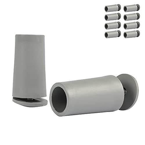 8 x Anschlagpuffer Stopper für Rollladen 40mm in grau [8x2130]