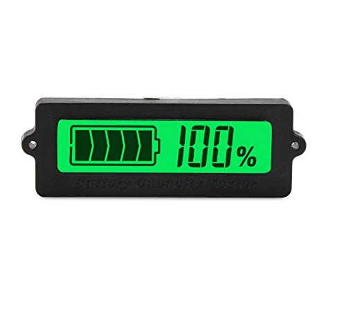 New BBOXIM 1PCS LY6W DC 8-63V Lead Acid Battery Tester 12V / 24V LCD Digital Battery Capacity Monito...