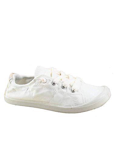 Forever Link Women's Classic Slip-On Comfort Fashion Sneaker, White, 7.5