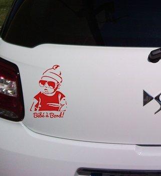 Stickers bébé à bord swag hangover ref 2 rouge