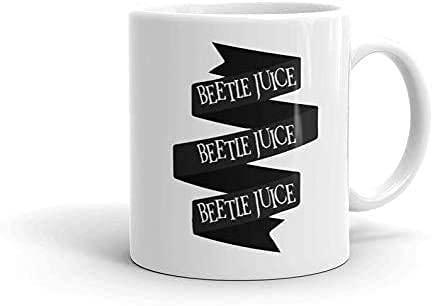 N\A Tazas de cerámica Beetlejuice Movie Comedy Fantasy Film Lydia-Deetz Adam-Maitland Regalo Divertido Tazas de café 11 oz