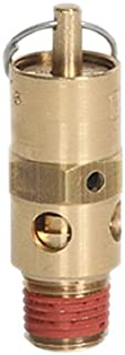 1//2 NPT 350 Degree F Max Temperature 1//2 1//2 NPT 165 psi Brass with Stainless Steel Spring and Stainless Steel Ball Midwest Control SN50-165 ASME Hard Seat Safety Valve