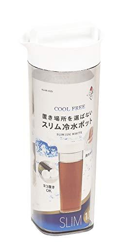 パール金属『スリム冷水ポットホワイト1.1L』