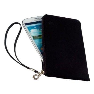 Smart Planet® Universal Handytasche für Smartphones L – schwarz – Neopren Hülle Tasche Cover Softcase Hülle – 14,6 x 7,8 x 1,1 cm Innenmaße
