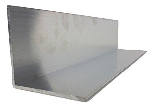 Perfil de aluminio, chapa reluciente, 40 x 40 x 4 x 2000 mm, 5000