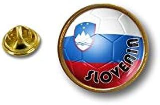 Spilla Pin pin's Spille spilletta Giacca Bandiera Badge Pallone Calcio Slovenia