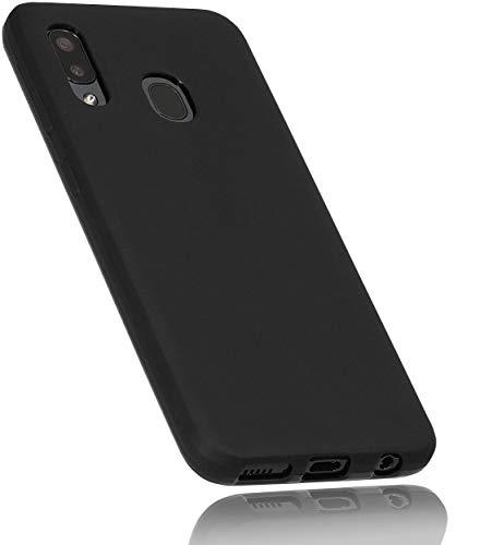 mumbi Fodral kompatibel med Samsung Galaxy A20e mobiltelefonfodral mobilskal, svart