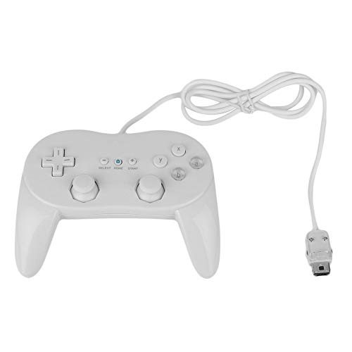 Cotchear Classic Wired Game Controller for Wii Pro Gamepad for Wii Remote Accessories Video Games Controller - White