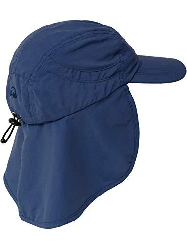 UV-Schutz Kappe mit Nackenschutz (Blau)
