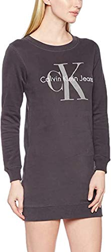 Calvin Klein Dovalina True Icon Reissue Dress Vestido, Gris (Light Grey Heather), 34 (Talla del Fabricante: X-Small) para Mujer