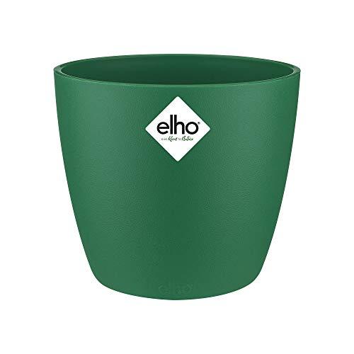 Elho Brussels Rond Mini 12,5 - Pot De Fleurs - Lucky Vert - Intérieur - Ø 13 x H 11.4 cm