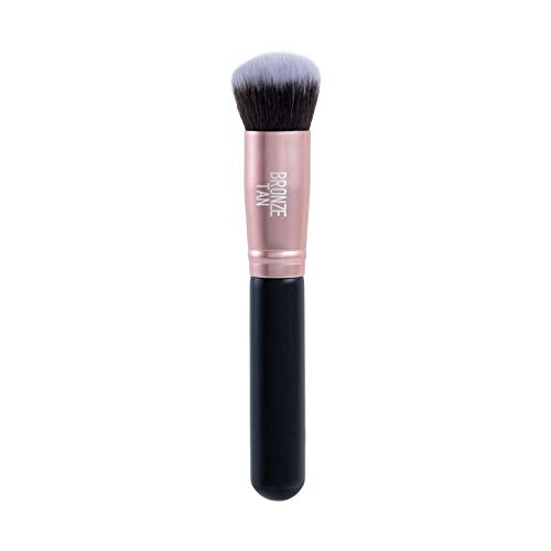 Bronze Tan Face Tanning Brush and Kabuki Brush for Sunless Tanner - Easily Apply Self Tanner to Face and Hard to Blend Areas with this Face Self Tan Applicator - Self Tanning Face Brush