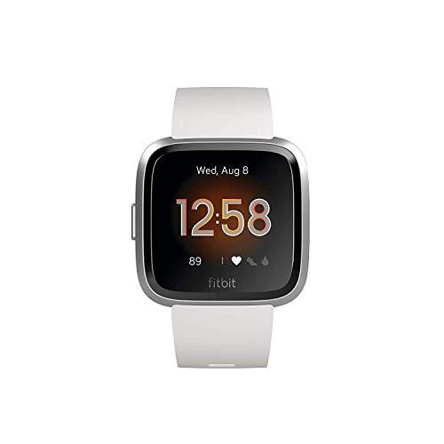 Fitbit Versa Lite - Reloj Deportivo Smartwatch, Adultos Unisex, Blanco/Plata Aluminio, Talla única