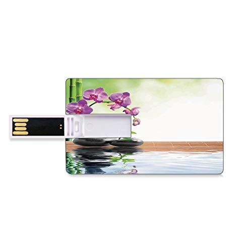 128GB USB Flash Thumb Drives Spa inrichting Bank Credit Card Shape Business Key U Disk Memory Stick Storage Spa met bronwater en gezondheidsbevorderende eigenschappen Aziatische Oosterse manier om bet
