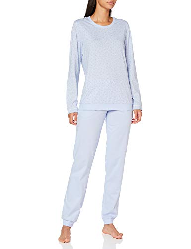 Seidensticker Damen Women Pyjama Long Pyjamaset, hellblau, 038