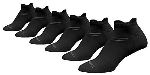 Brooks Running Socks Run in 6-Pack Black Small