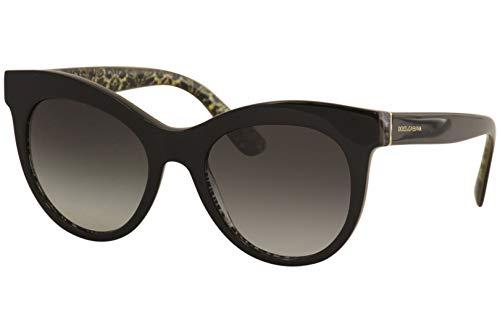 Ray-Ban Damen 0DG4311 Sonnenbrille, Mehrfarbig (Black On Damascus Glitter Blac), 51
