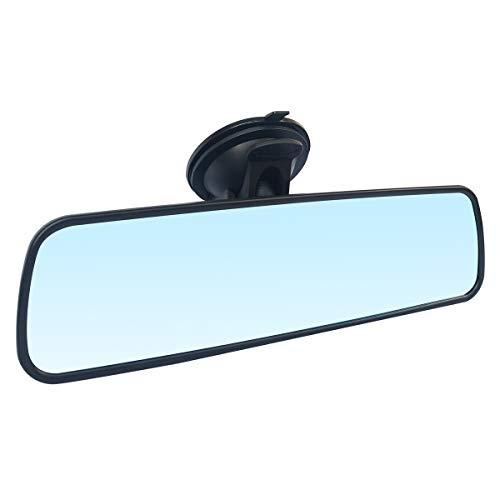 Wontolf Rear View Mirror Anti-Glare Suction Cup Rear View Mirror Universal Interior Rearview Mirror for Car Truck SUV 9.5''(240mm)