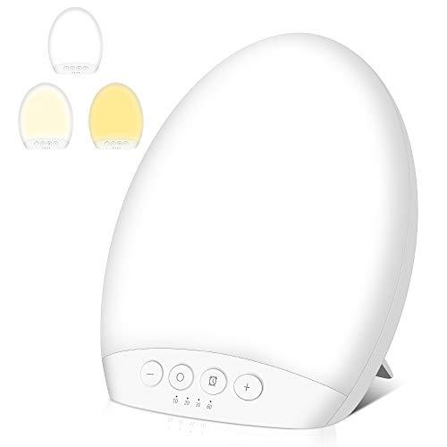 Tageslichtlampe 10000 lux, Molbory 4 Timer Lichttherapielampe mit Memoryfunktion gegen Depressionen, 3 Lichtfarben Lichtdusche Lichtintensität einstellbar, LED Sonnenlicht, flimmer-, UV-frei