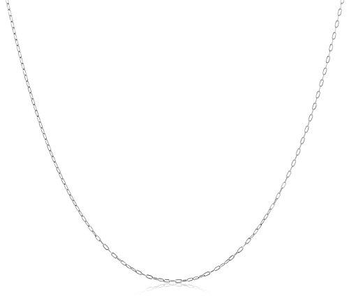 Miore ketting uit 14 karaat 585 geelgoud platte anker schakel met lengte 45 cm