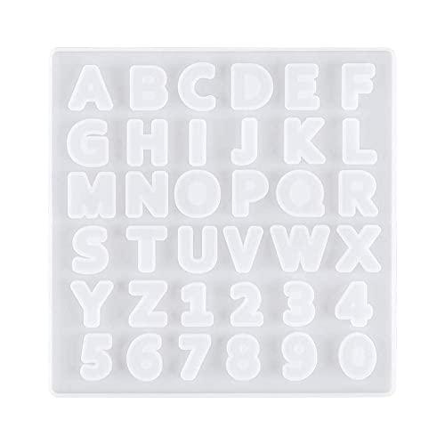 レジン型 ソフトモールド シリコンモールド アルファベット 英語 数字 アクセサリー パーツ キーホルダー 石膏 石鹸 キャンドル UVレジン エポキシ樹脂 粘土 ハンドメイド 反転タイプ 1363