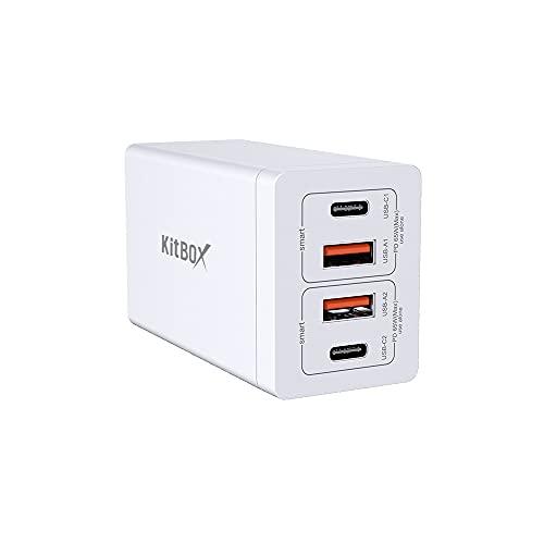 Cargador USB C Carga Rapida(GAN Tech), Enchufe USB Multiple Tipo C PD 3.0 & QC3.0 Adaptador Cargador para portátiles, tabletas, teléfono móvil, etc