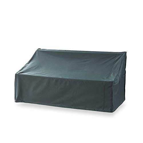 Lumaland Abdeckung für 3-Sitzer-Bank Gartenbank 158 x 83 x 45/81 cm robuste Schutzhülle für Gartenmöbel Oxford 600D 280 g/m² Wasserdicht Witterungsbeständig Winterfest in Grün/Grau
