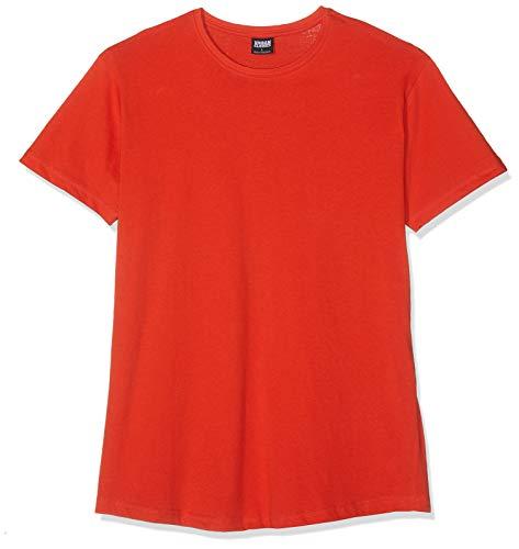 Urban Classics Herren Shaped Long Tee T-Shirt, Orange (Bloodorange), 3XL