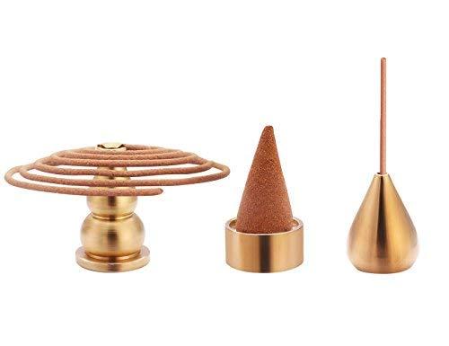 Xujia Incense Burner Metal Incense Holder ,Cone Incense Holder, Coil Incense Holder, Incense Stick Holder, 3 Styles.