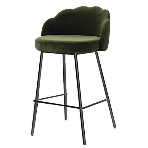 HTL Praktische Hoch Hocker Hoch Hocker Soft Sitz Bar Stühle Mit Rückenlehne Und Armlehne Metallbeine Küche Frühstück Barhocker,H