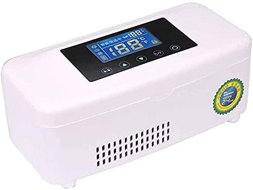 LSWY Caja de Viaje del Enfriador de insulina portátil con la exhibición de la Temperatura Frigorífico USB Carga aislada de la Bolsa de refrigeración para el hogar, el Coche, Viajar Todos los días