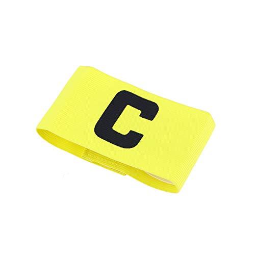 VORCOOL Fútbol Fútbol Capitán Brazalete Fútbol Ajustable Rugby Jugador de Baloncesto para niños y jóvenes (Amarillo)