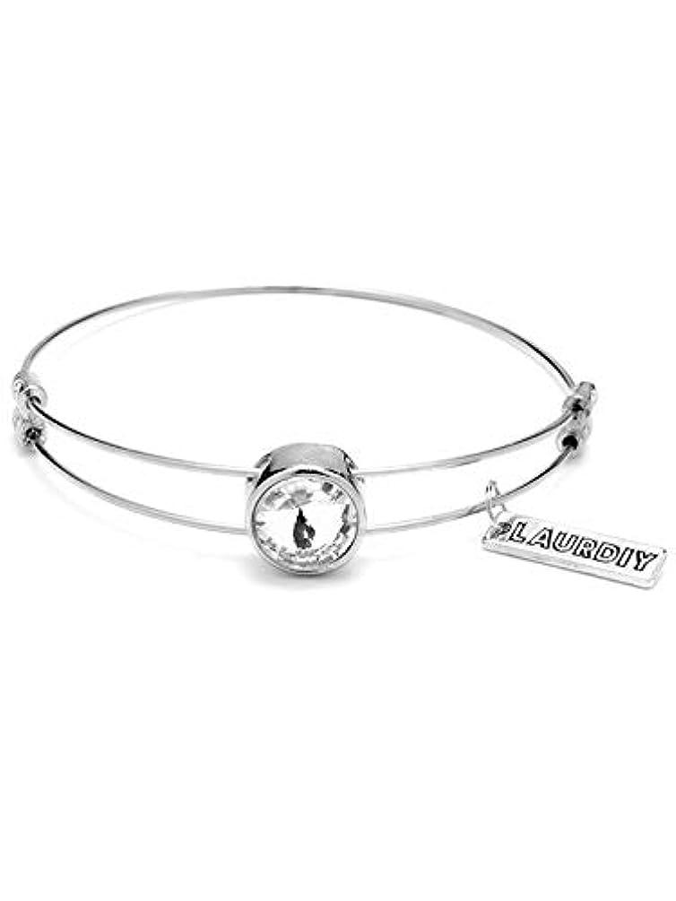LaurDIY 37600077 Finished Silver Adjustable Rhinestone Center Bracelet, Multi