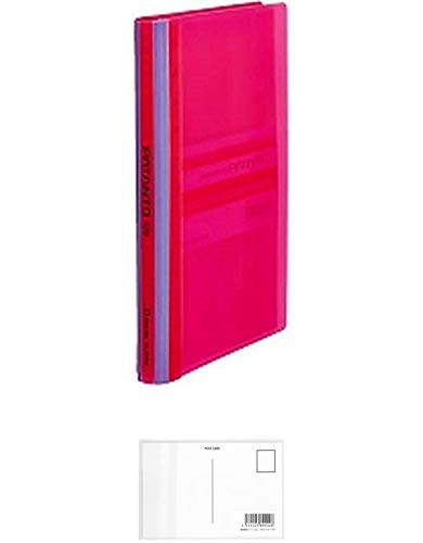 キングジム カードホルダーコンパクトタイプ パタント 120ポケット ピンク 42TPNヒン + 画材屋ドットコム ポストカードA